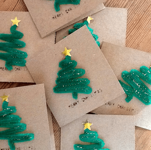 Project: Pipe Cleaner Christmas Cards