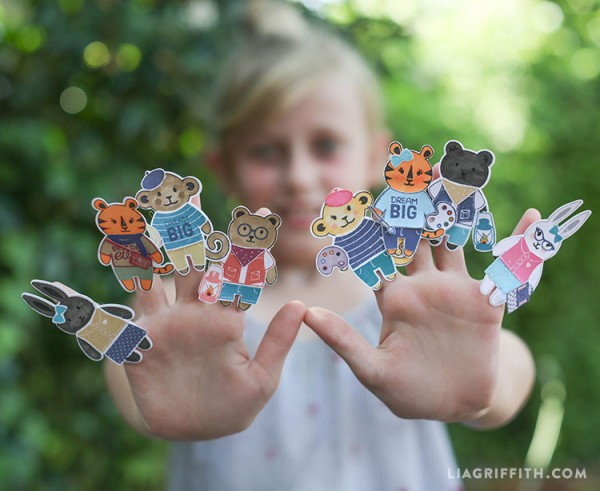 Project: Kids Craft - Stamped Finger Puppets