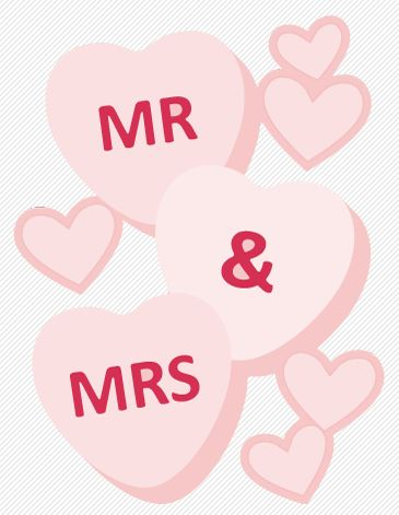 Freebie: Mr. and Mrs. Hearts Die Cut