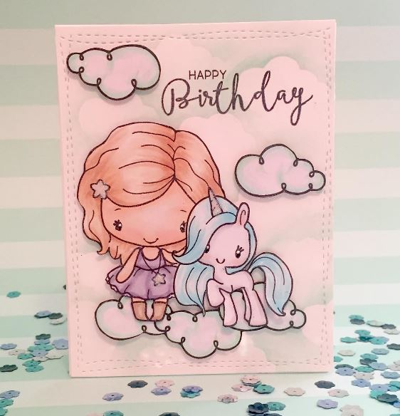 Project: Unicorn Glitter Bomb Card