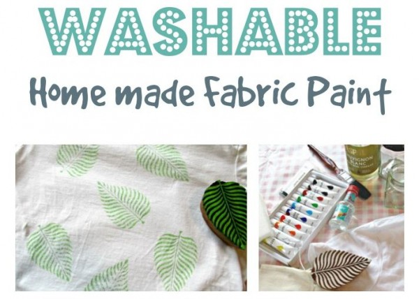 Tip: DIY Washable Fabric Paint for Stamping