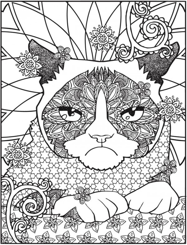 cat coloring pages for adults printable - freebie grumpy cat coloring page stamping