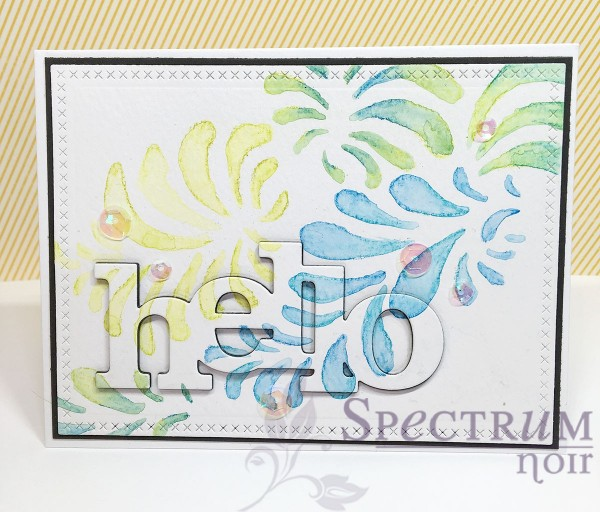 Technique: Cards with Stencils and Water Color Pencils