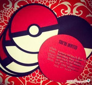 Project: Pokemon Pokeball Party Invite Card