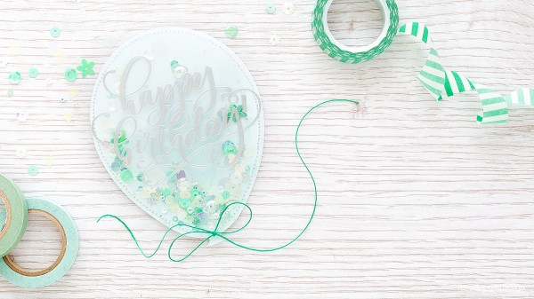 Project: Balloon Shaped Shaker Card