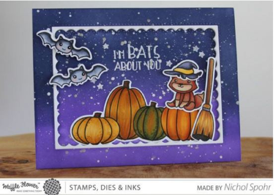 Project: Batty Halloween Scene Card