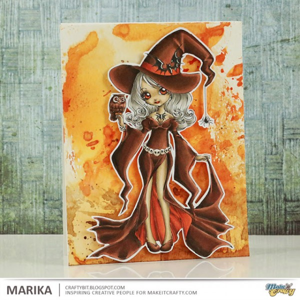 Tutorial: Copic Colored Witch Card