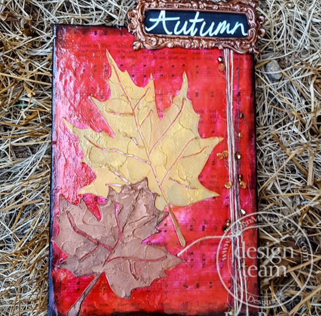 Project: Fall Leaves Mixed Media Canvas