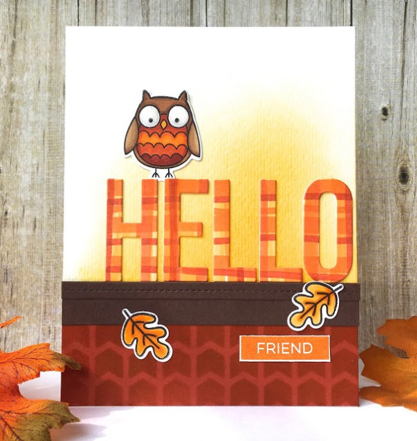 Project: Fall Card with DIY Plaid Paper
