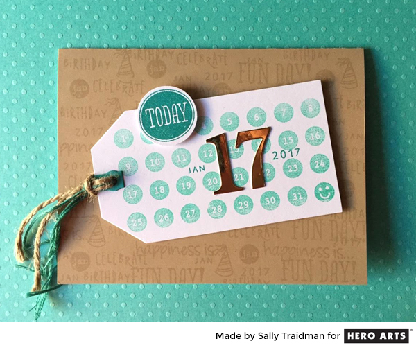 Inspiration: Planner Stamps Birthday Card
