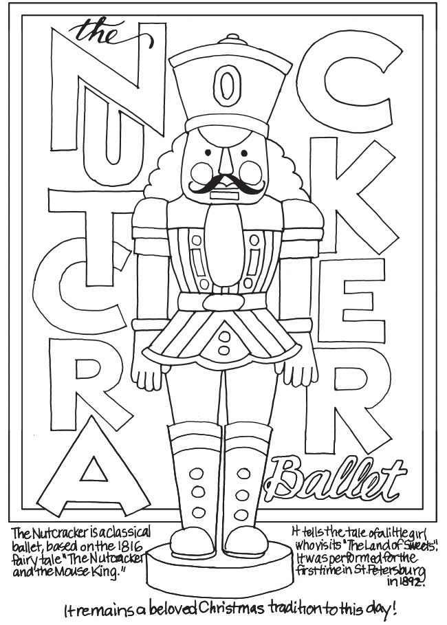 freebie nutcracker coloring page