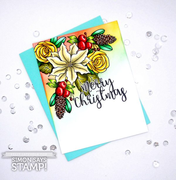 Project: Christmas Floral Card