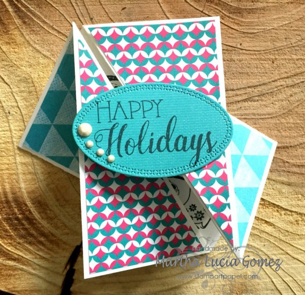 Project: Gate Fold Twist Holiday Card