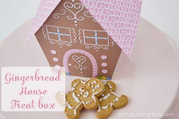 Freebie: Gingerbread House Treat Box Printable