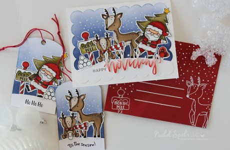 Project: Matching set of Christmas Card, Tags and Envelope