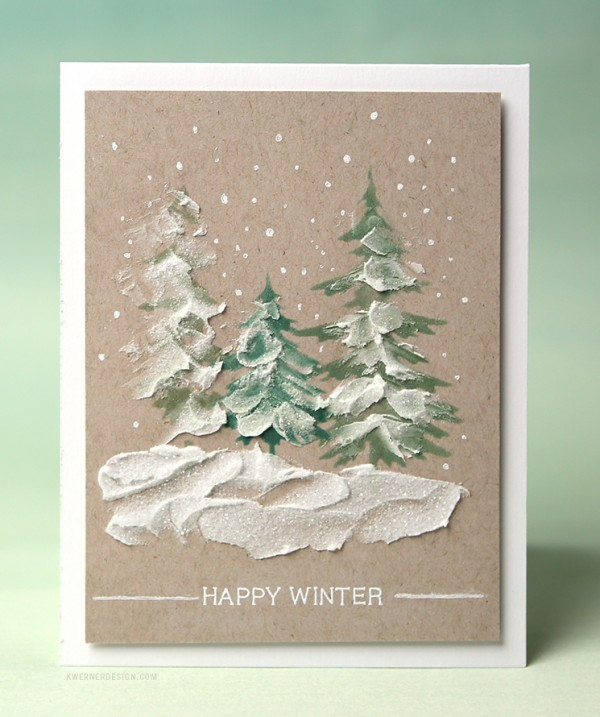 Technique: Winter Cards with Textured Snow