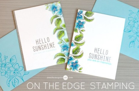Technique: Stamping on the Edge Card