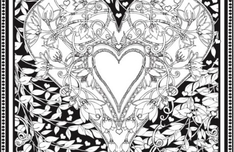 Freebie: Valentine Heart Coloring Page