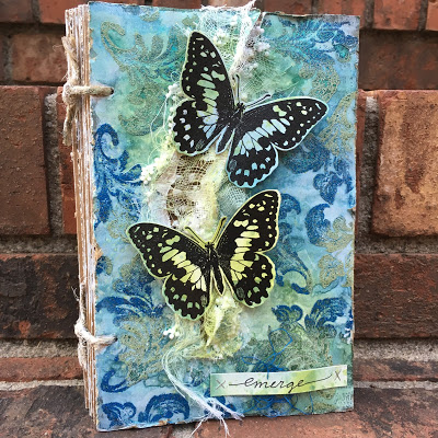 Project: Embossed Butterfly Journal Cover