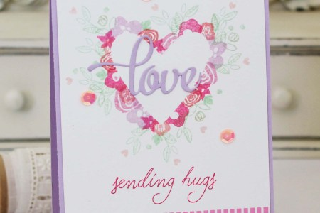 Project: Heart Shaped Wreath Card