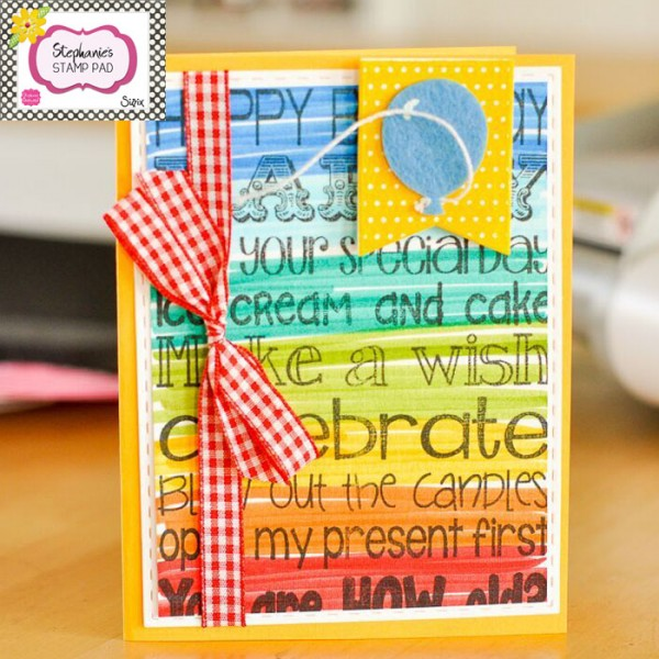 Project: Rainbow Words Card