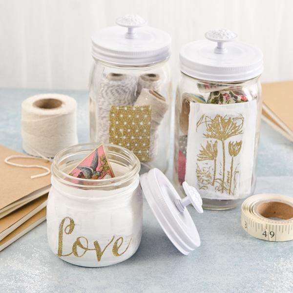 Project Craft Room Organization with DIY Jars