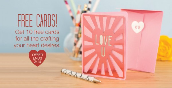 Freebie: 10 Free Cricut Valentine's Day Cards
