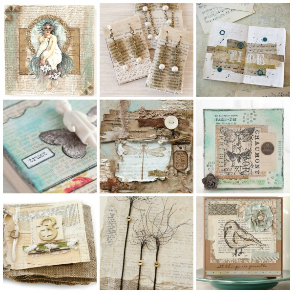 Projects: 7 Paper Crafting Projects Using Vintage Book Pages