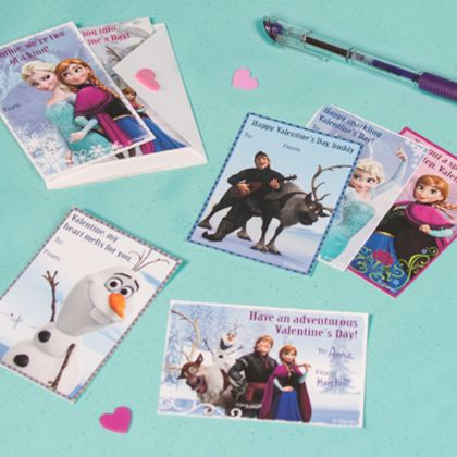 Freebie: Disney Frozen Valentines
