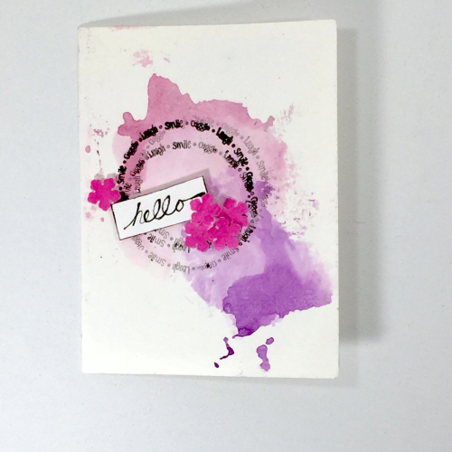 Project: Hello Card made with Gelatos