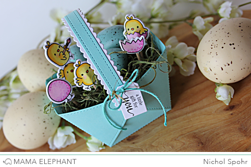 Project: Stamped and Die Cut Paper Easter Basket