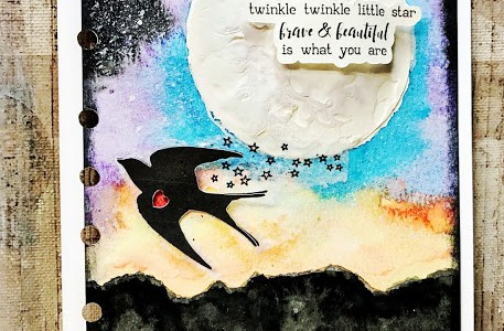 Project: Night Time Sky Journal Page