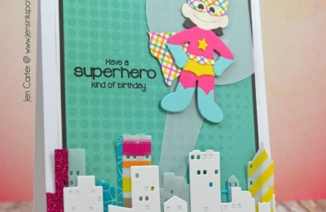 Tip: Super Hero Card with Washi Tape and Die Cuts