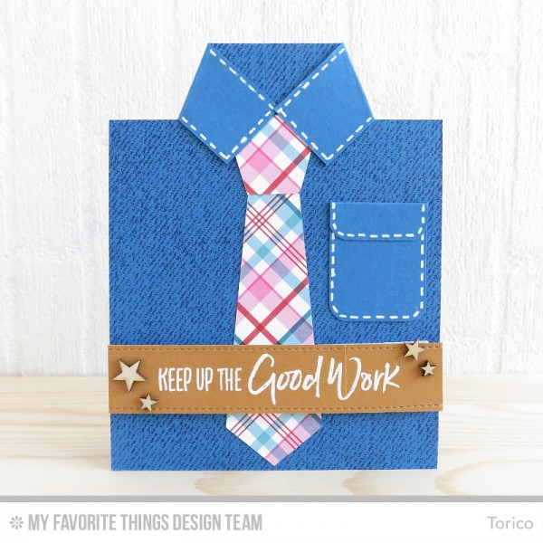 project  masculine shirt and tie card  u2013 stamping