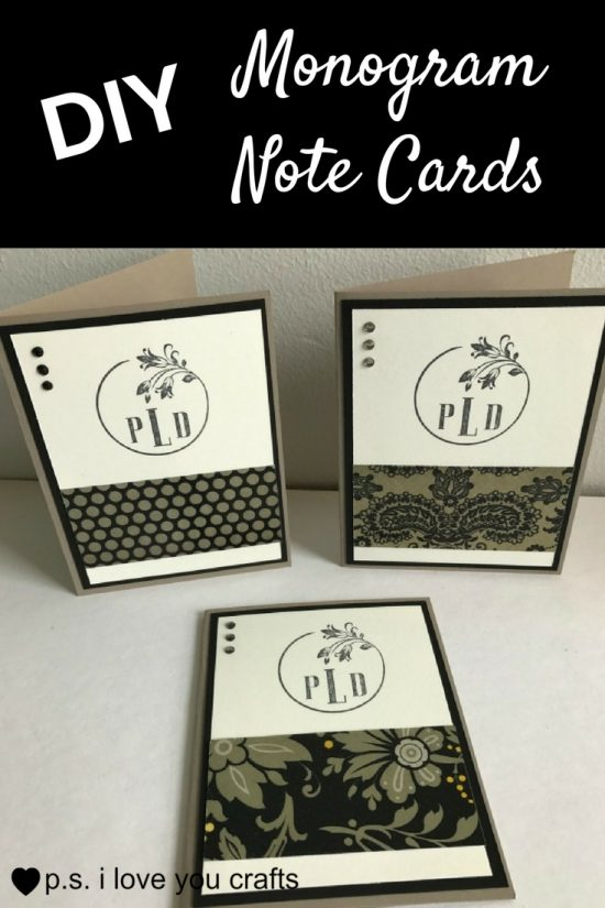 Project: Quick Monogram Cards