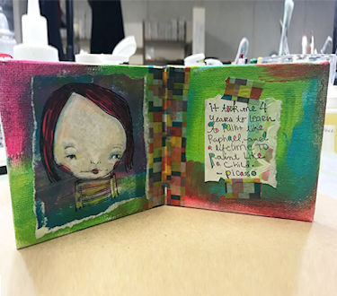 Project: Mixed Media Canvas Card