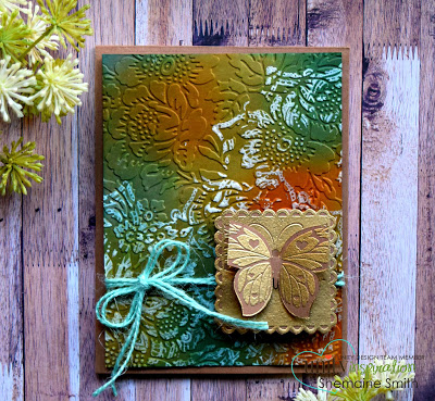 Project: Dry Embossed and Inked Butterfly Card