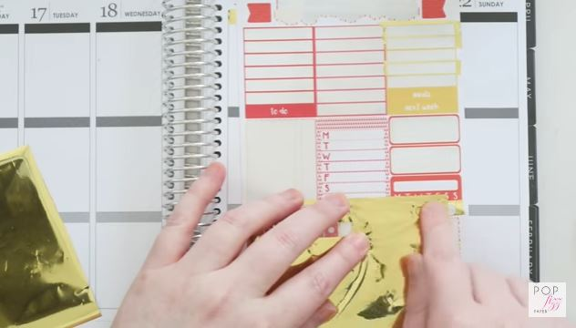 Tip: Add Gold Foil to Your Planner