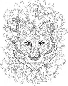 Download: Fanciful Fox Mandala Coloring Page