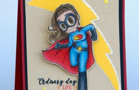 Project: Super Girl Action Card