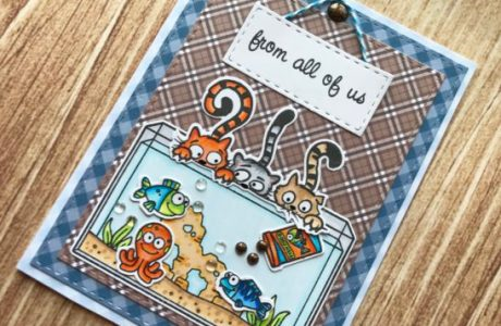 Project: Funny Cats and Fish Tank Card