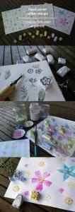 Tutorial: DIY Hand Carved Flower Stamps