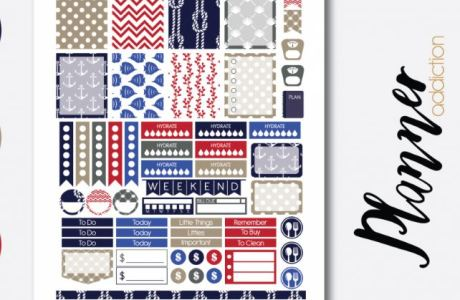 Download: Nautical Planner Stickers