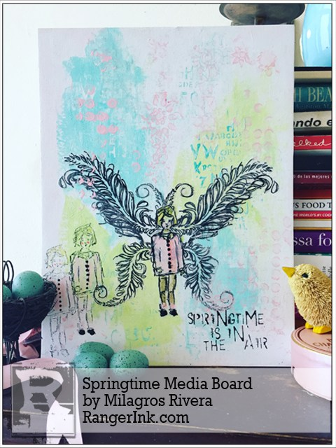 Project: Spring Fairy Mixed Media Canvas