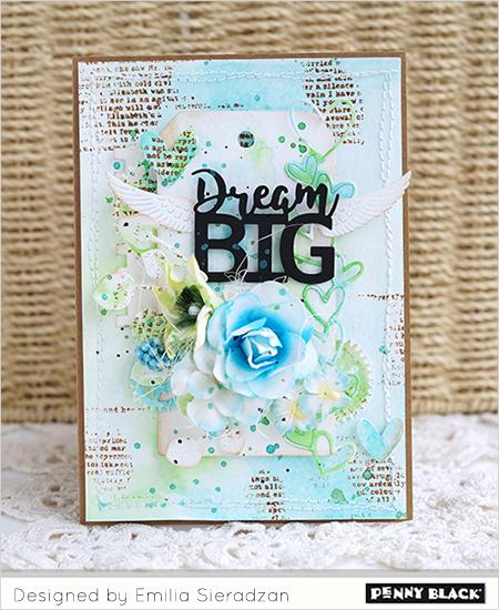 Project Dream Big Mixed Media Card