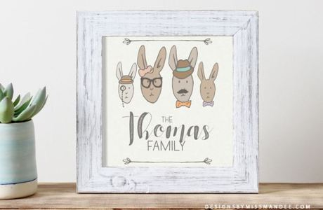 Download: Hipster Rabbits Images for Father's Day