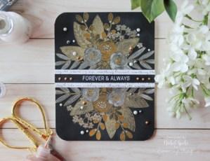 Project: Metallic Floral Wedding Card