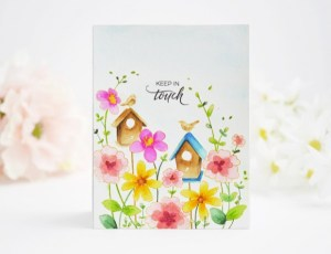 Technique: Spring Scene Card with No-line Stamping Water Color