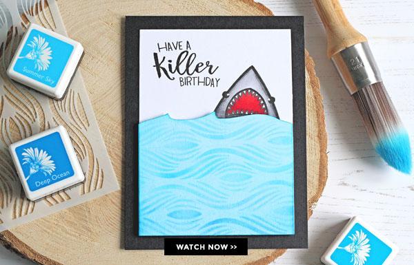 Project Funny Shark Birthday Card