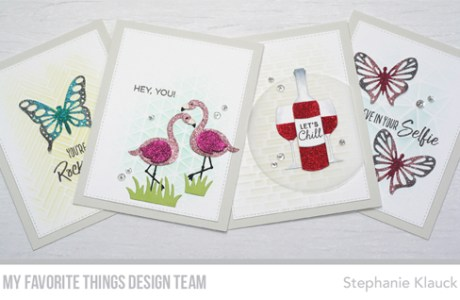 Projects: Glitter Die Cut Cards